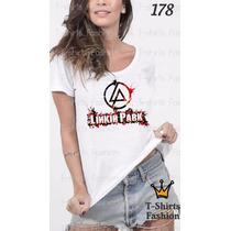 Camiseta T-shirt Linkin Fashion Feminino Blusa Baby Look