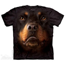 Camisa 3d Rottweiler Face The Mountain Original