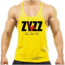 Camiseta Regata Super Cavada Musculação Zyzz Gold