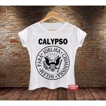 Camiseta Feminina Calypso Ramones Banda Sátira Engraçada