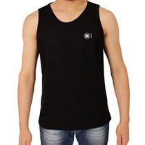 Camiseta Regata Preta Lisa Estilo Hollister Surf Quiksilver