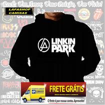 Blusa Moletom Linkin Park Capuz Bolso Banda Rock Camiseta Lp