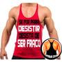 Regata Super Cavada P/ Musculação Academia Malhação Fitness
