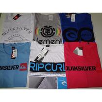 Kit Com 10 Camisas Regata Quick Silver, Element, Billabong..