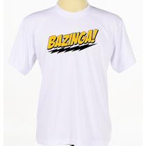 Camiseta Camisa Personalizada Bazinga The Big Bang Série