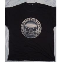 Camisa Camiseta Blusa Customizada_ Harley Davidson Skull