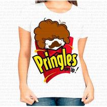 Camiseta Personalizada Feminina Pringles Black Power Afro