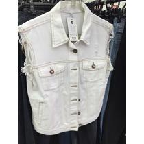 Colete Jeans Sarja Branco Feminino Plus Size E Normal Estilo