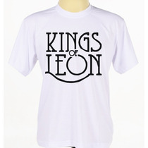 Camiseta Kings Of Leon Customizada Manga Curta Banda Rock