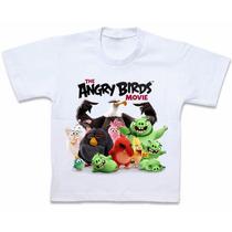 Blusa Camisa Camiseta Personalizada Angry Birds Movie