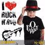 Camisetas O Rappa Infantil Preta Rock Roll Clássicos