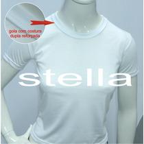 Camiseta Baby Look Feminina Branca Lisa Poliester Sublimação