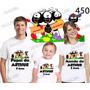 Lembrança De Aniversario Smilinguidos Camiseta Com 3