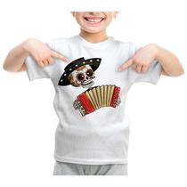 Camiseta Infantil Caveira Mexicana Sanfona 357