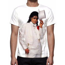 Camisa, Camiseta Michael Jackson - Mod 03 - Estampa Total