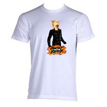 Camiseta Adulto Unissex Motoqueiro Fantasma Ghost Rider 03