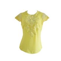 Blusa Com Aplicação Em Renda Amarela Unique Chic