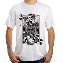 Camiseta Poker Tshirt Masculina Dama D