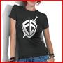 Camiseta Feminina Fé André Valadão Gospel Cristã