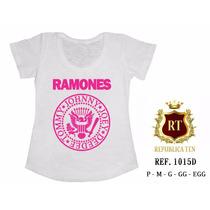 T-shirts Camisetas Personalizadas, Femininas Ramones Rock