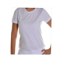 Camiseta Baby Look Branca Tecido 100% Poliester Fio 30.1