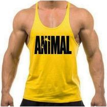 Combo 5 Camiseta Regata Super Cavada Animal Pak Musculação