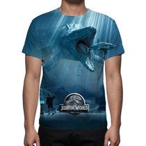 Camisa, Camiseta Filme Jurassic World - 2015 Mod 02