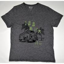 Camiseta Masculina Mesclada Gola V - Hering