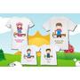 Kit Familia Camisetas Personalizadas Fazendinha