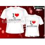 Presente Namorados Kit 2 Camisetas Namorados Promoção