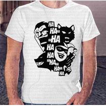 Camiseta Menino Vilões Do Batman Coringa E Arlequina