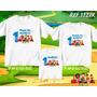 Lembrança De Aniversario Cocoricó Camiseta Kit Com 3