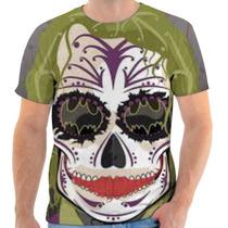 Camiseta Caveira Mexicana Coringa Batman Personalizada