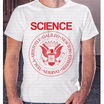 Camiseta Masculina Science Sátira Dos Ramones Coleção 2016