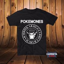 Camiseta Camisa Sátira Pikachu Masculina Pokemones Ramones