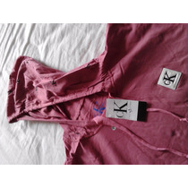 Camisa M.longa Calvin Klein + Capuz Original Frete Grátis