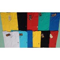 Kit 20 Camisetas Masculinas Gola V Frete Grátis