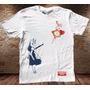 Camiseta Masculina Banksy Alice País Das Maravilhas Coelho