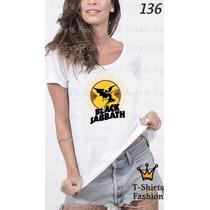 Camiseta T-shirt Sabbath Fashion Feminino Blusa Baby Look
