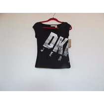 Camiseta Dkny Preta Importada Tamanho Pp!!!