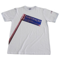Camiseta 100% Poliester Lisa Para Sublimação Branca Adulto