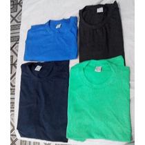10 Camisetas Lisas, Algodão, Colorida, Sem Estampa, Atacado