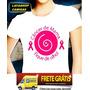 Camisa Cancer De Mama Camiseta Baby Look Feminina Moca Olho