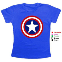Camiseta Baby Look Feminina Capitão America Super Heróis