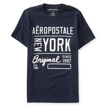 Camiseta Aeropostale Azul Escuro Modelo 6820 Original Usa