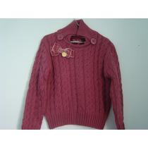 Pituchinhus - Blusa De Lã Vinho. Tamanho 06. Temos Lilica