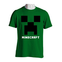Camisa Minecraft Camisetas Game Jogos Satiras Geek Filmes