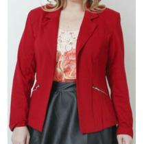 Blazer Em Moletom Red Carpet Plus Size Tamanho 52 Com Forro