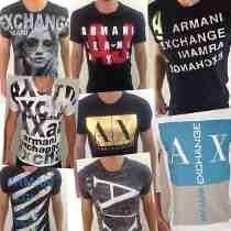Kit 10 Armani Exchange Camiseta Ax Atacado