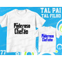 Camiseta Poderoso Chefão Personalizada Tal Pai Tal Filho(a)